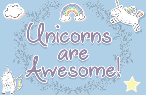 Unicorns are Awesome Font Free