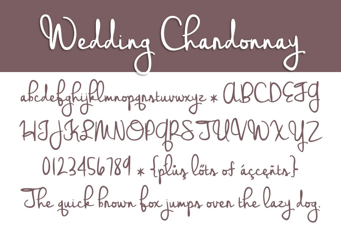wedding-chardonnay-font