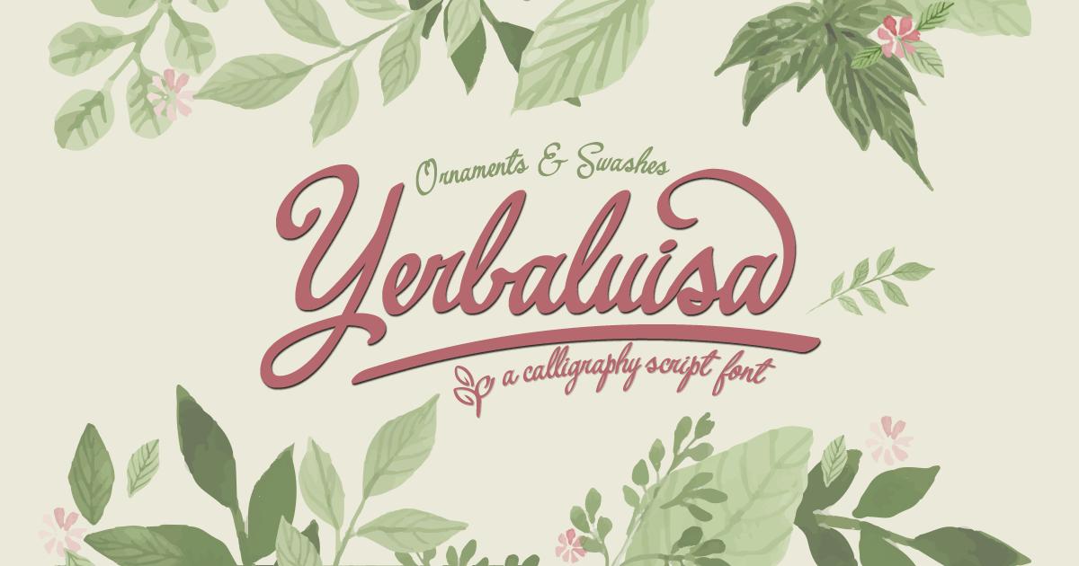 yerbaluisa_calligraphic_script_font-fb