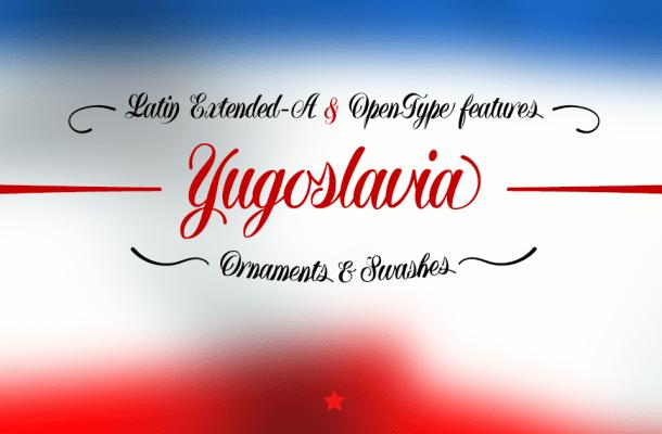 Yugoslavia Calligraphic Font Free