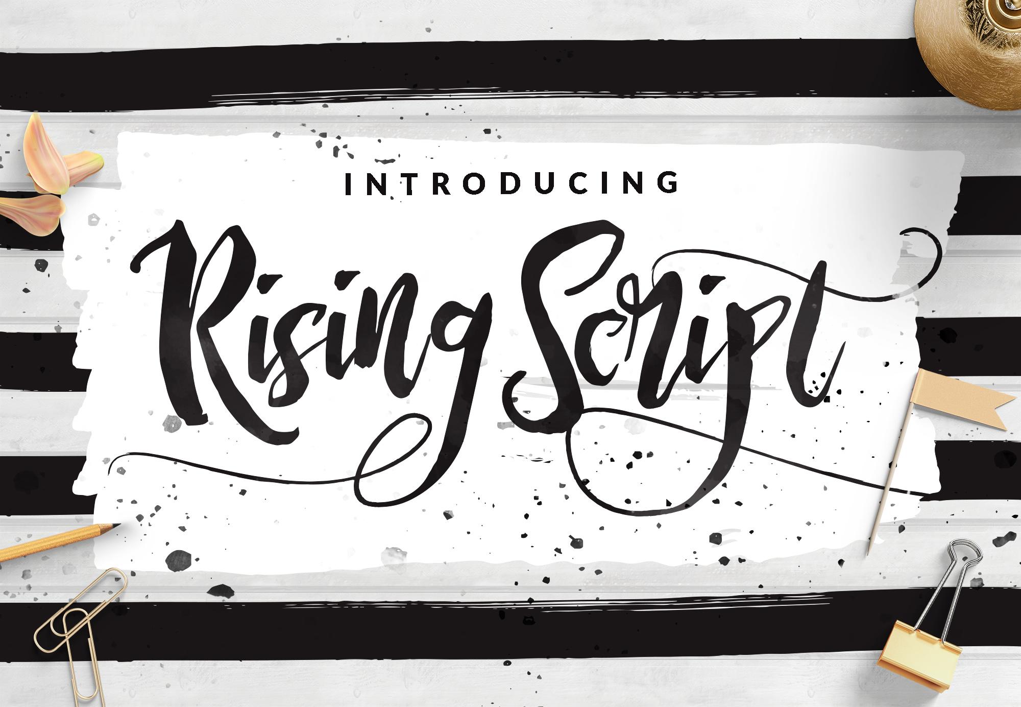 rising-brush-font