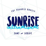 Sunrise International Font Free