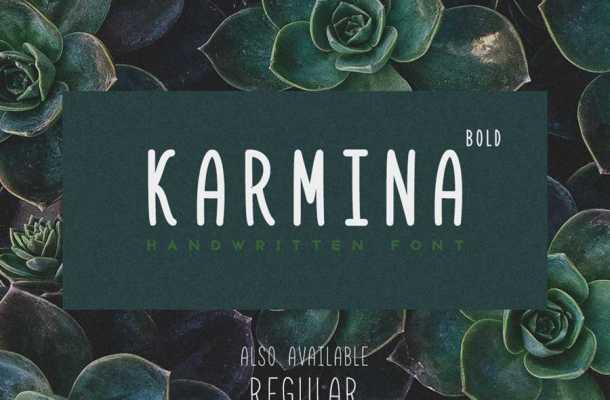 Karmina Handwritten Font Free