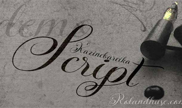 KazincBarcika Script Font Free