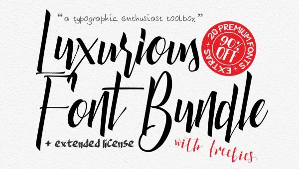Luxurious Bundle Font Free