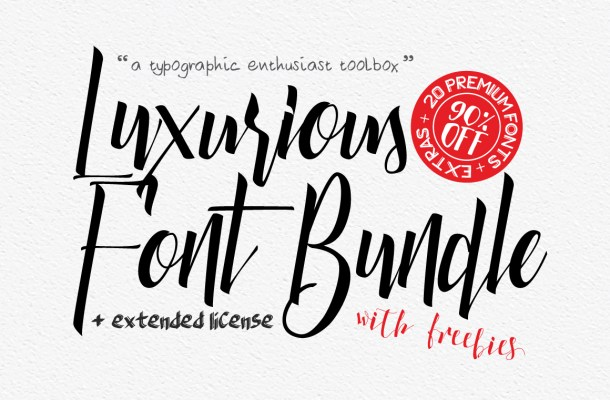 Luxurious Bundle Font Free
