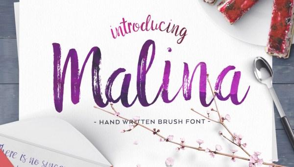 Malina Brush Font Free