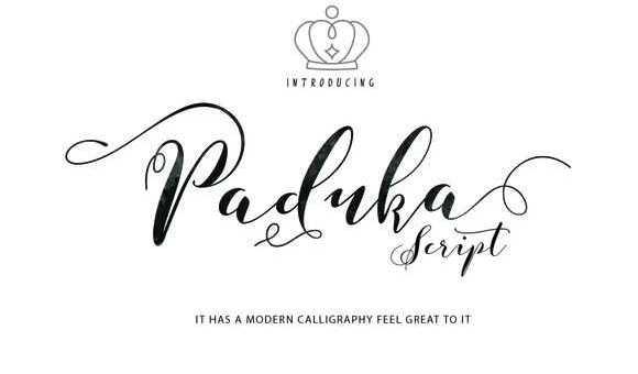 Paduka Script Font Free