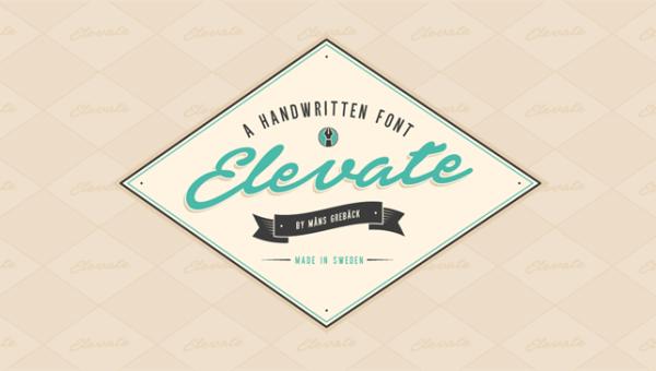 Elevate Font Free