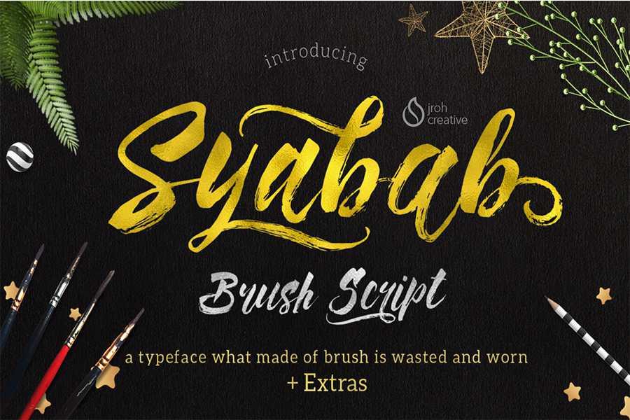 syabab-brush-font