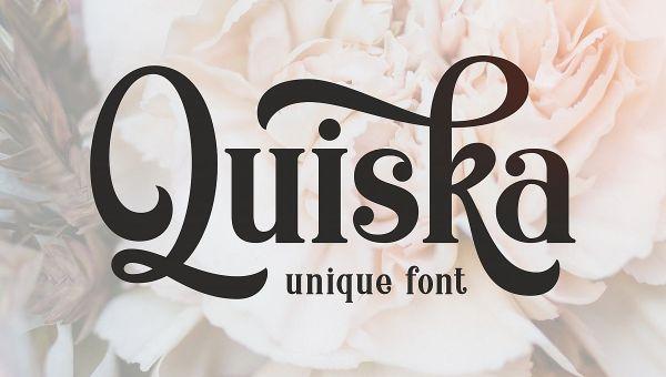 Quiska Font Free Download