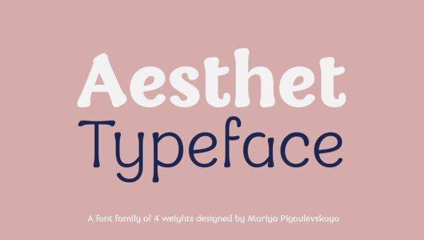 Aesthet Font Family Free