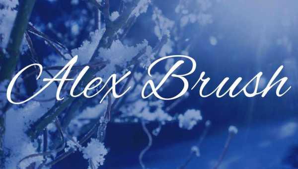 Alex Brush Font Free