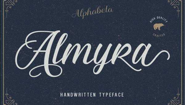 Almyra Script Font Free