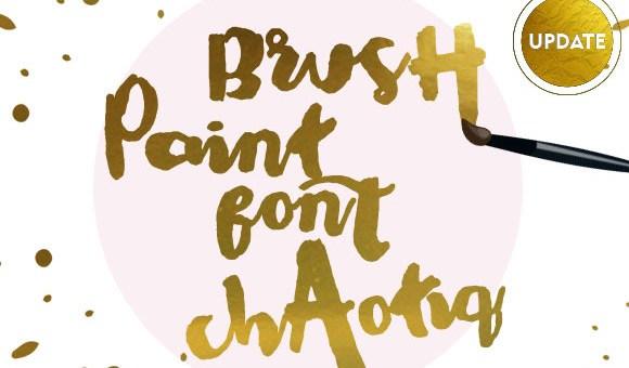 Chaotiq Modern Paint Brush Font Free