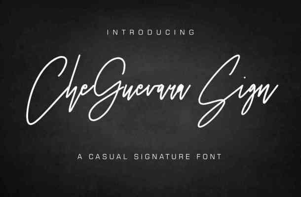 CheGuevara Sign Font Free Download