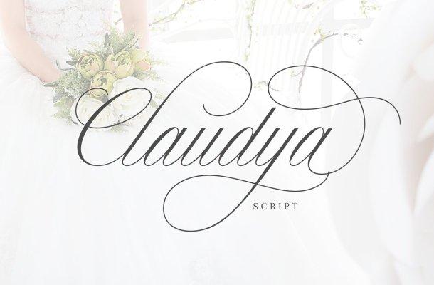 Claudya Script Font Free Download