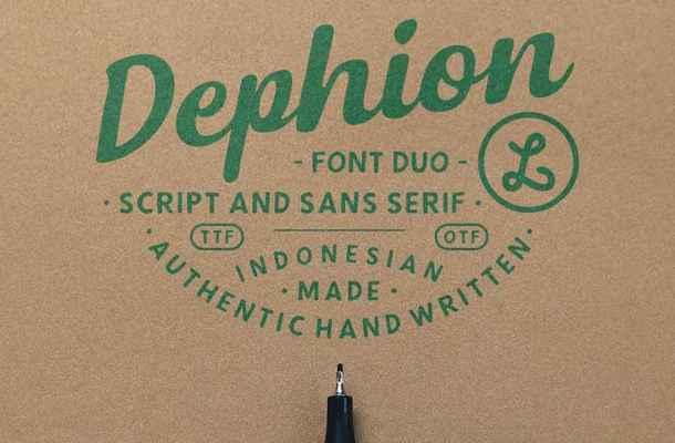 Dephion Script Font Free Download