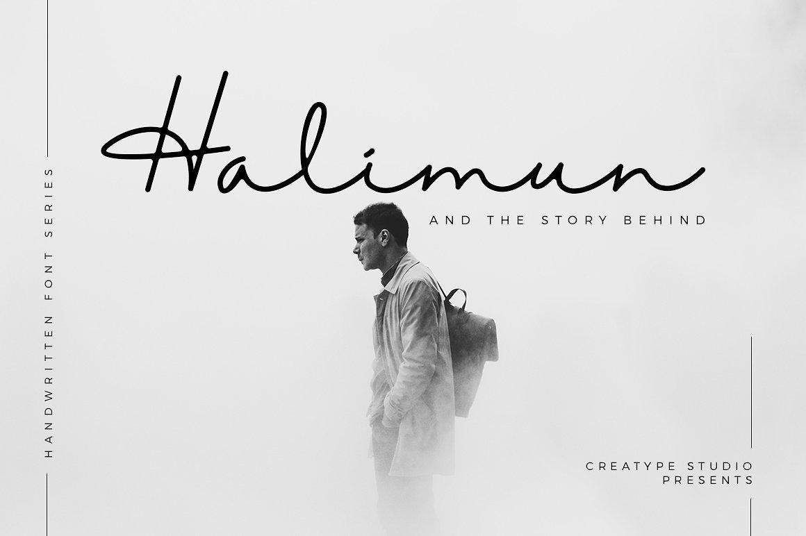 halimun-script-style-font