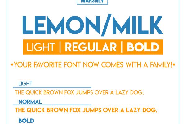 Lemon/Milk Font Family Free Download