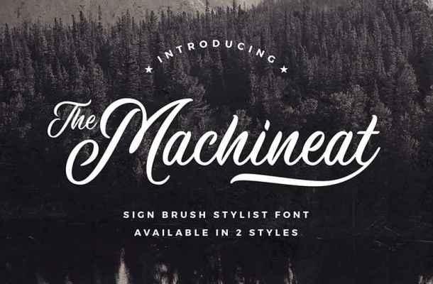 Machineat Font Free Download