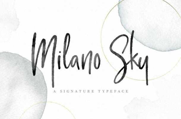 Milano Sky Script Font Free