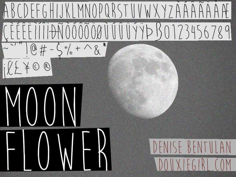 Moon Flower Font Free Download - Dafont Free