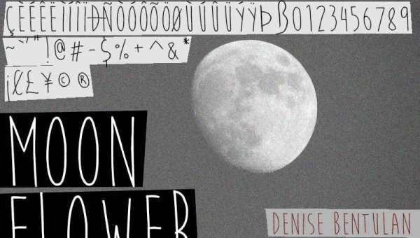 Moon Flower Font Free Download