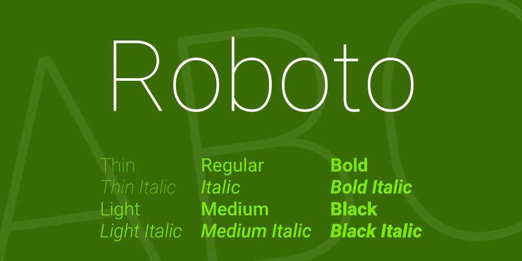 roboto-font-big