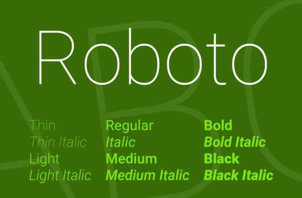 Roboto Font Family Free Downloadac