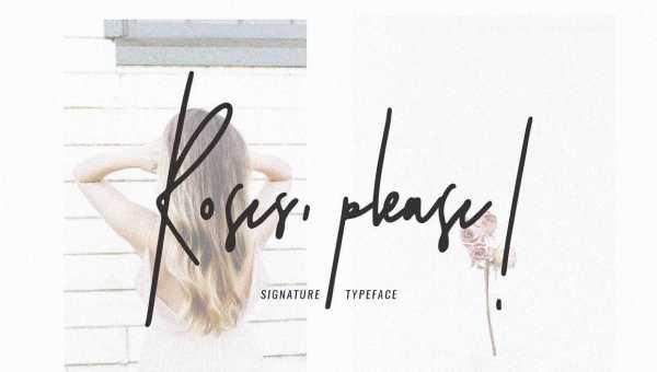 Roses, Please! Script Font Free