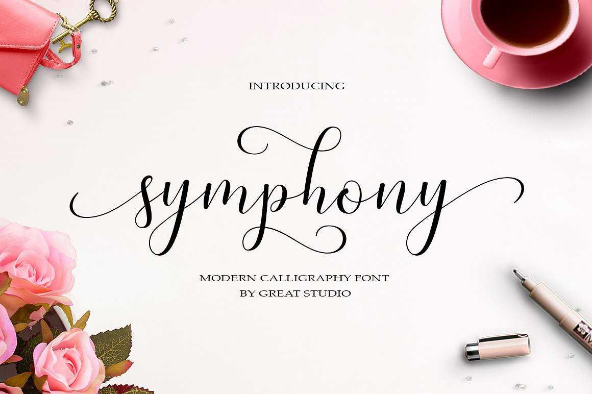 symphony-script-font