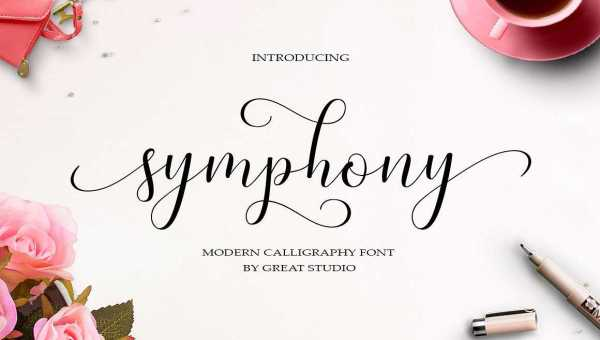 Symphony Script Font Free Download