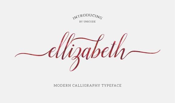 Ellizabeth Script Font Free