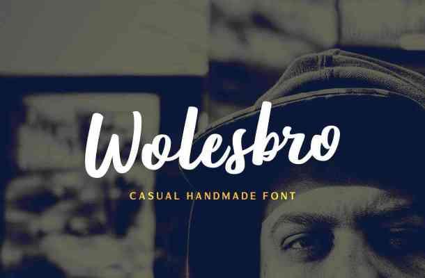 Wolesbro Brush Font Free Download