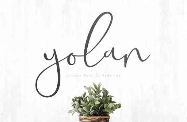 Yolan Script Font Free Download