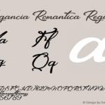 Elegancia Romantica Font Free Download