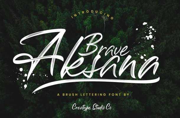 Aksana Brush Font Free Download