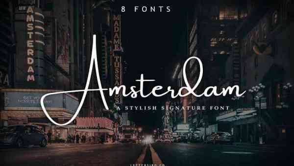 Amsterdam Signature Font Free Download