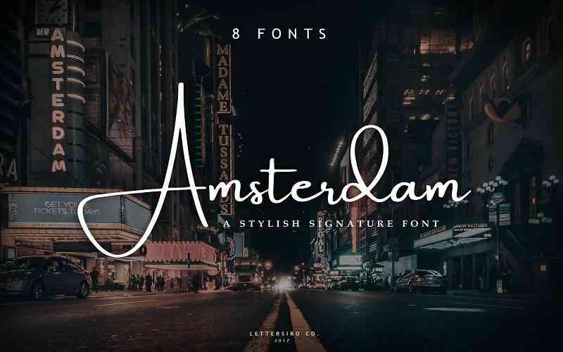 amsterdam-signature-font1