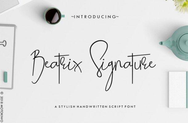 Beatrix Signature Font Free Download