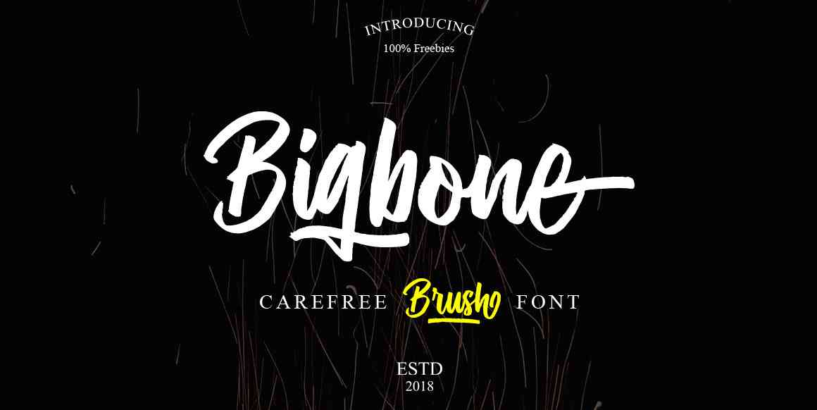 bigbone-brush-font