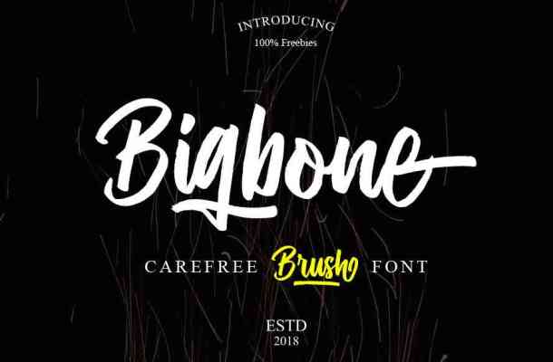 Bigbone Brush Font Free Download