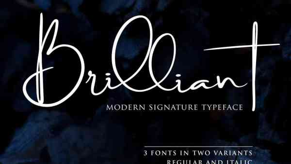 Brilliant Signature Font Free Download