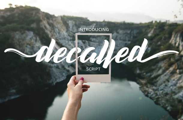 Decalled Script Font Free Download