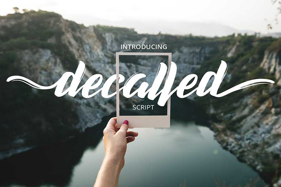 decalled-script-font