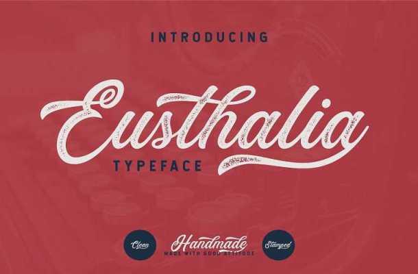 Eusthalia Script Font Free Download