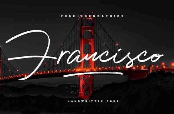 Francisco Script Font Free Download