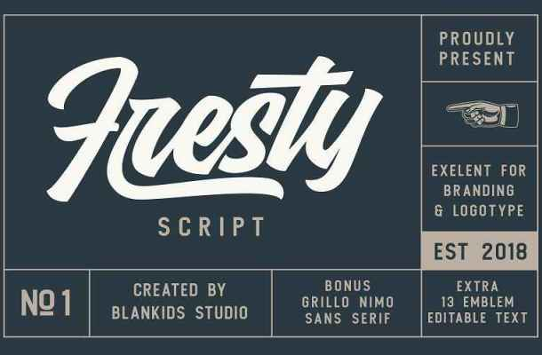 Fresty Script Font Free Download