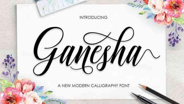 Ganesha Script Font Free Download